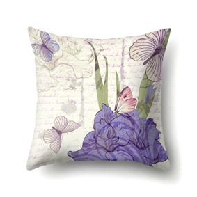 Подушка декоративная Бабочки и ирисы 45 х 45 см (код товара: 48026): купить в Berni