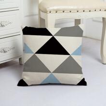 Подушка декоративная Большие треугольники 45 х 45 см оптом (код товара: 48077)