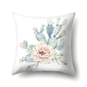 Подушка декоративная Цветущий кактус 45 х 45 см (код товара: 48062): купить в Berni