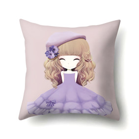 Подушка декоративная Девочка и астра 45 х 45 см (код товара: 48047): купить в Berni