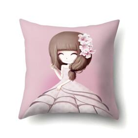Подушка декоративная Девочка и лилии 45 х 45 см (код товара: 48044): купить в Berni