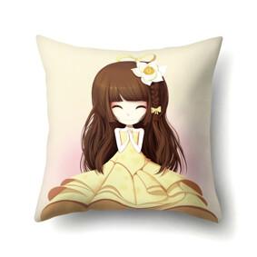 Подушка декоративная Девочка и нарцисс 45 х 45 см (код товара: 48039): купить в Berni