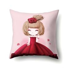 Подушка декоративная Девочка и роза 45 х 45 см (код товара: 48043)