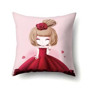 Подушка декоративная Девочка и роза 45 х 45 см (код товара: 48043): купить в Berni