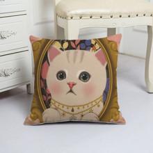 Подушка декоративная Кошечка - красавица 45 х 45 см (код товара: 48074)