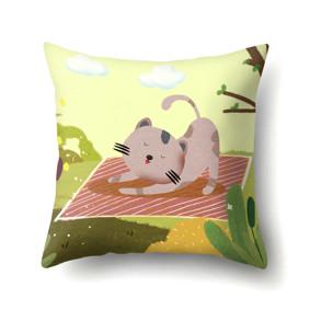 Подушка декоративная Кот потягивается 45 х 45 см (код товара: 48052): купить в Berni