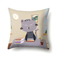Подушка декоративная Кот ученый 45 х 45 см оптом (код товара: 48054)