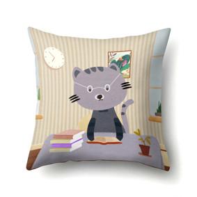 Подушка декоративная Кот ученый 45 х 45 см (код товара: 48054): купить в Berni