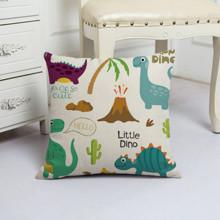Подушка декоративная Маленькие динозавры 45 х 45 см (код товара: 48034)