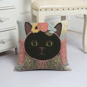 Подушка декоративная Миссис кошка 45 х 45 см (код товара: 48070): купить в Berni