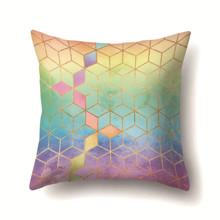 Подушка декоративная Радужные кубы 45 х 45 см (код товара: 48010)