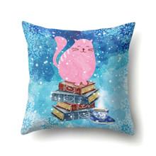 Подушка декоративная Розовый кот 45 х 45 см (код товара: 48007)