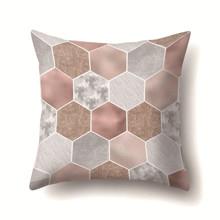 Подушка декоративная Шестиугольники 45 х 45 см (код товара: 48012)