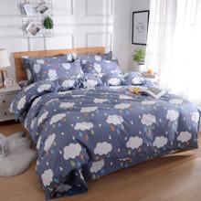 Комплект постельного белья Дождик (двуспальный-евро) (код товара: 48133)