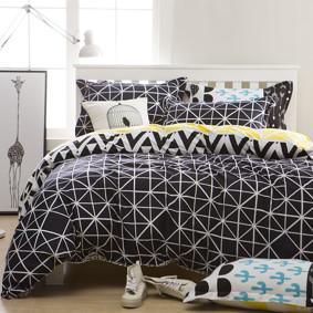 Комплект постельного белья Геометрия (двуспальный-евро) (код товара: 48145): купить в Berni