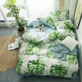 Комплект постельного белья Лист монстеры (двуспальный-евро) (код товара: 48155): купить в Berni