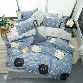 Комплект постельного белья Мистер Кот (двуспальный-евро) (код товара: 48157): купить в Berni