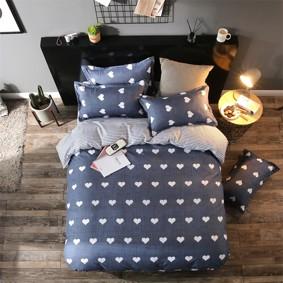 Комплект постельного белья Сердечки (полуторный) (код товара: 48140): купить в Berni