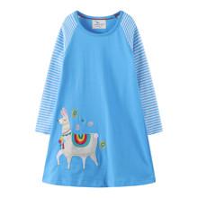Платье для девочки Лама (код товара: 48106)