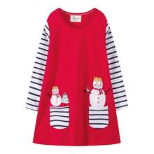 Платье для девочки Снеговик (код товара: 48109)