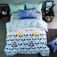 Уценка (дефекты)! Комплект постельного белья Счастье (двуспальный-евро) (код товара: 48191)
