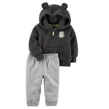 Костюм для хлопчика з утепленою кофтою 2 в 1 Ведмедик оптом (код товара: 48276)