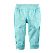 Штаны для девочки Горошек, голубой (код товара: 48256)