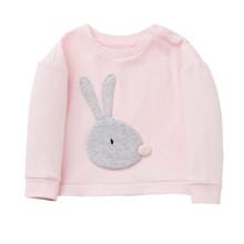 Свитшот для девочки Кролик, розовый оптом (код товара: 48262)