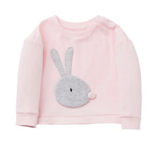 Світшот для дівчинки Кролик, рожевий оптом (код товара: 48262)
