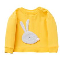 Світшот для дівчинки Кролик, жовтий оптом (код товара: 48264)