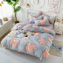 Уценка (дефекты)! Комплект постельного белья Большие цветы (двуспальный-евро) (код товара: 48222)