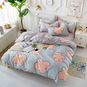 Уценка (дефекты)! Комплект постельного белья Большие цветы (двуспальный-евро) (код товара: 48222): купить в Berni
