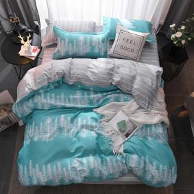 Уценка (дефекты)! Комплект постельного белья Хвойный лес (двуспальный-евро) (код товара: 48227): купить в Berni