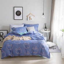 Уценка (дефекты)! Комплект постельного белья Кит с простынью на резинке (полуторный) (код товара: 48230)