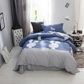 Уценка (дефекты)! Комплект постельного белья Маленькая зайка (полуторный) (код товара: 48203): купить в Berni