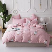 Уценка (дефекты)! Комплект постельного белья Молоко (двуспальный-евро) (код товара: 48224)