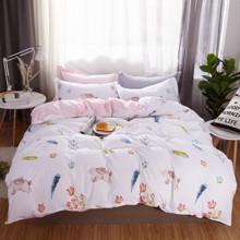 Уценка (дефекты)! Комплект постельного белья Зайчонок (двуспальный-евро) (код товара: 48210)