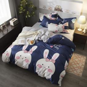 Уценка (дефекты)! Комплект постельного белья Зайка (полуторный) (код товара: 48211): купить в Berni