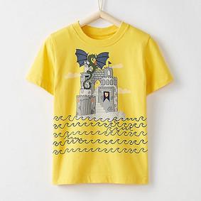 Футболка для хлопчика Замок Дракона (код товару: 48315): купити в Berni