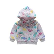 Кофта для девочки Разноцветные динозаврики оптом (код товара: 48396)