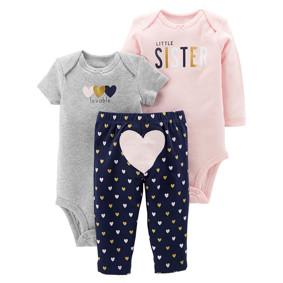 Комплект для девочки 3 в 1 Младшая сестрёнка (код товара: 48385): купить в Berni