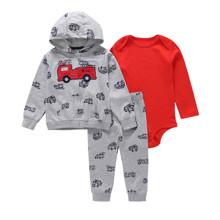 Комплект для мальчика 3 в 1 Пожарная машина (код товара: 48381)
