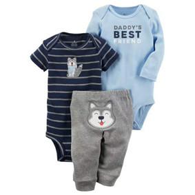 Комплект для мальчика 3 в 1 Волк (код товара: 48384): купить в Berni