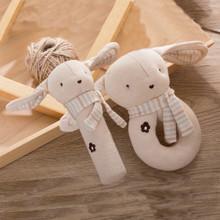 Набір м'яких іграшок - брязкалець Зайченята оптом (код товара: 48362)
