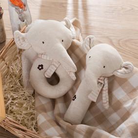 Набор мягких игрушек - погремушек Слонята  (код товара: 48360): купить в Berni