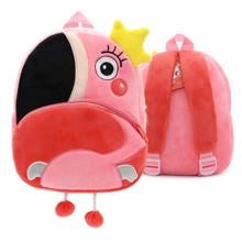 Рюкзак велюровый Фламинго оптом (код товара: 48321)