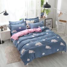 Комплект постельного белья Облако с простынью на резинке (двуспальный-евро) (код товара: 48495)
