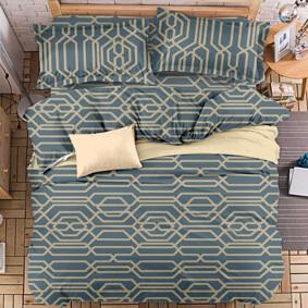 Уценка (дефекты)! Комплект постельного белья Абстрактный узор (полуторный) (код товара: 48403): купить в Berni