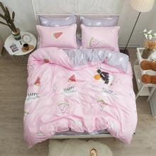Уценка (дефекты)! Комплект постельного белья Арбуз (двуспальный-евро) (код товара: 48453)