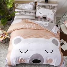 Уценка (дефекты)! Комплект постельного белья Белый мишка (двуспальный-евро) (код товара: 48433)
